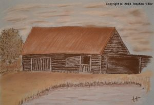Barn at Potters Crouch in Pastel