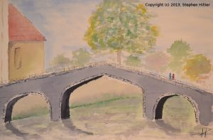 Begijnof Bridge in Watercolour