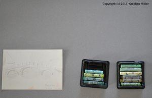 China Grey Mi Teintes Pastel paper, Sennelier pastels