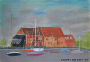 Eling Mill, Totton in pastel