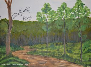 A Forest Clearing in Acrylic (version 6)