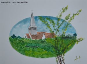St Nicks Church Laindon in cmyk acrylic