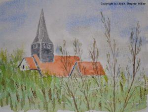 Laindon Church Watercolour