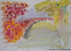 The Bridge - watercolour in cmyk