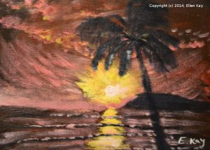 Tropical Sunset by Ellie