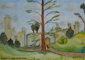 Warwick Castle in watercolour
