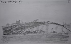 dover-castle-from-dover-docks-pencil