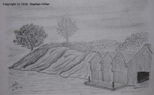 hollen-brygge-norway-pencil